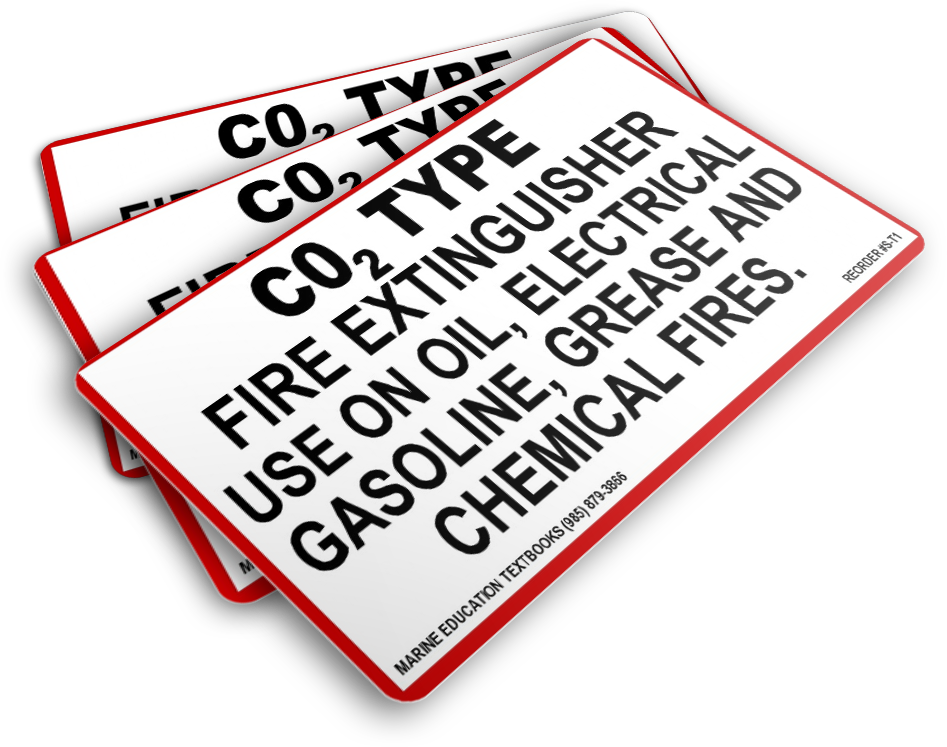 Fire Extinguisher CO2 Type Use on Oil - Electrical Gasoline - Grease and Chemical Fires (8.75x5.0)
