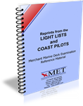 BK-0276 Merchant Marine Deck Examination Reference Material Light Lists and Coast Pilot Reprints
