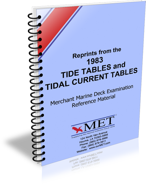 BK-0276-1 Merchant Marine Deck Examination Reference Material Tide Tables & Tidal Current Tables