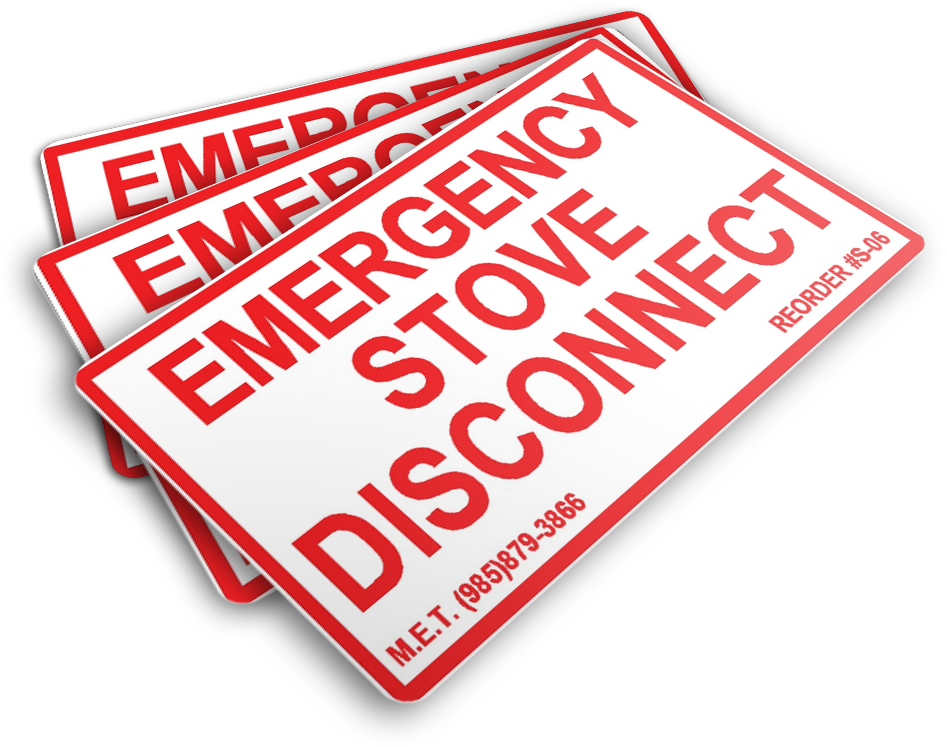 S-06 Emergency Stove Disconnect (3.0x1.75)