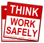 Think  Work Safely. (3.75x 3.75)