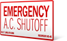 Emergency A.C. Shutoff. (4.5x2.0)