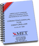 BK-062 Merchant Marine Deck Examination Reference Material Operating Manual for Deep Driller