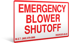 S-05 Emergency Blower Shutoff (3.75 x 2.375)