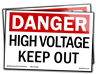 S-229 Danger. High Voltage. Keep Out. (10x7) Vinyl